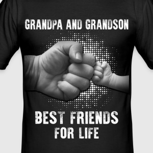 Grandpa And Grandson Best Friends For Life T-Shirts - Men's Slim Fit T-Shirt