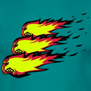 Fire flame fireball formation agro T-Shirts - Men's T-Shirt
