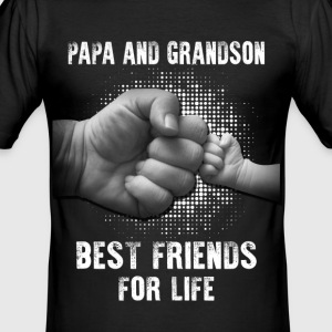 PAPA AND GRANDSON T-Shirts - Men's Slim Fit T-Shirt