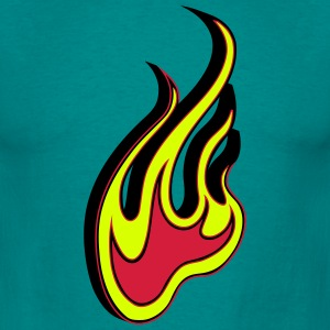 Fire flamme 3D T-shirts - Herre-T-shirt