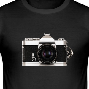 Analoge Photokamera  - Männer Slim Fit T-Shirt