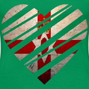 Northern Ireland Heart T-shirts - Dame premium T-shirt