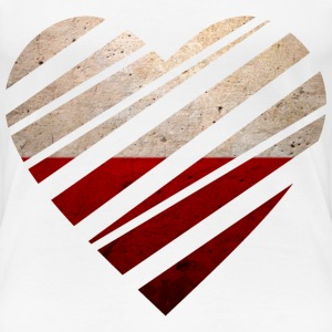 Poland Heart T-Shirts - Frauen Premium T-Shirt