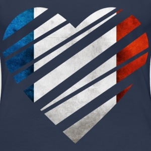 France Heart T-shirts - Vrouwen Premium T-shirt