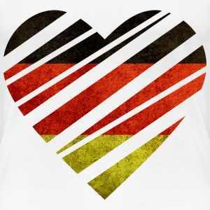 Germany Heart T-shirts - Dame premium T-shirt