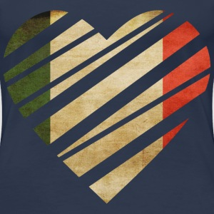 Italy Heart T-shirts - Dame premium T-shirt