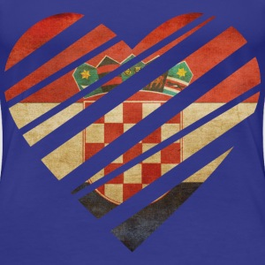 Croatia Heart T-Shirts - Frauen Premium T-Shirt