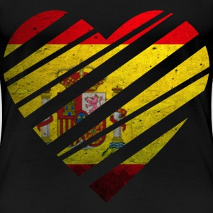 Spain Heart T-Shirts - Frauen Premium T-Shirt