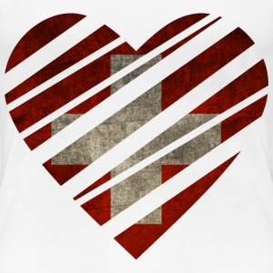 Switzerland Heart T-shirts - Dame premium T-shirt