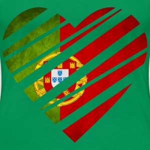 Portugal Heart T-Shirts - Frauen Premium T-Shirt