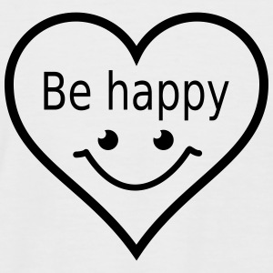 be happy T-shirts - Kortærmet herre-baseballshirt