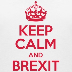 Keep Calm and Brexit T-Shirts - Frauen T-Shirt mit V-Ausschnitt