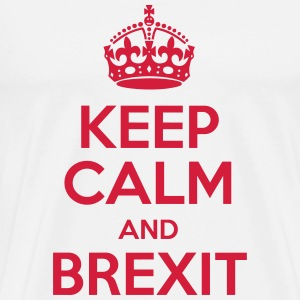 Keep Calm and Brexit T-Shirts - Herre premium T-shirt