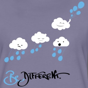 Grå-violett Be Different T-shirts - Premium-T-shirt dam