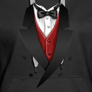 Tuxedo Tie Designs red vest Pullover & Hoodies - Frauen Premium Hoodie