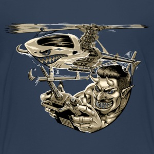 3D-Heli Modellflieger Pitch-Devil-sepia - RAHMENLOS RC Car Flugzeug Hobby Design T-Shirts - Teenager Premium T-Shirt
