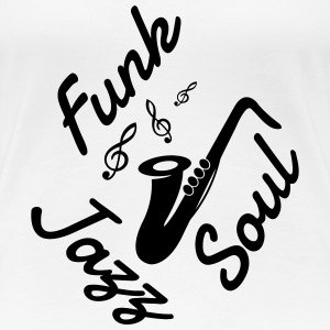 Jazz - Music - Blues - Funk - Jazzman - Groove T-shirts - Vrouwen Premium T-shirt