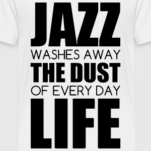 Jazz - Music - Blues - Funk - Jazzman - Groove T-shirts - Teenager premium T-shirt