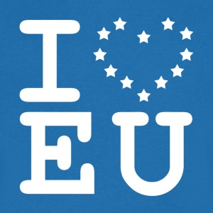 i love EU European Union Brexit T-Shirts - Men's V-Neck T-Shirt