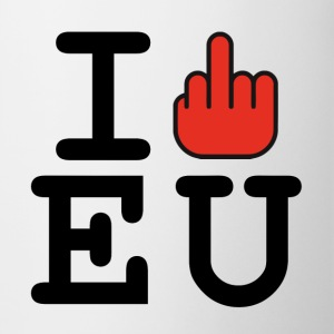 i fck EU European Union Brexit Mugs & Drinkware - Mug