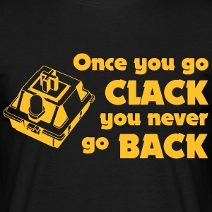Once you go CLACK - Mechanical Keyboard Enthusiast - Männer T-Shirt