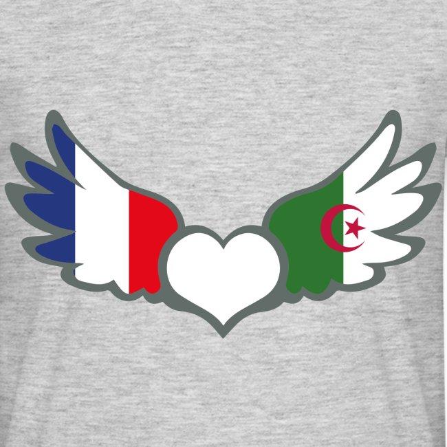 Algerie Drapeau la france sur ta peau marque française de t shirts | t-shirt