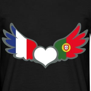 Bi-nationalité Drapeaux France Portugal II Tee shirts - T-shirt Homme