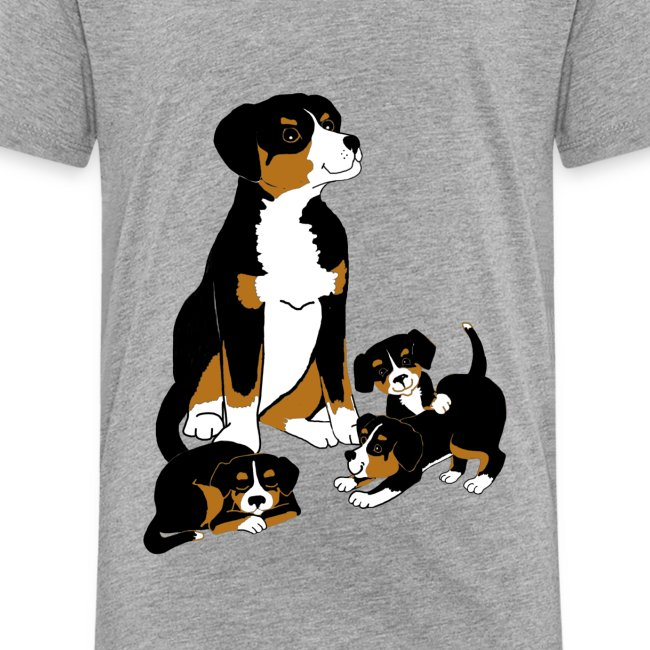 Entlebucher and puppies