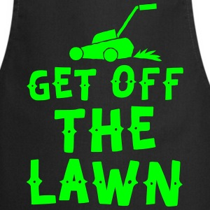 get off the lawn with lawn mower  Aprons - Cooking Apron