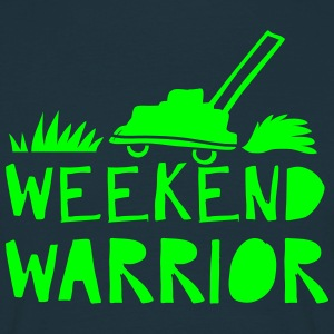 weekend warrior with lawn mower T-Shirts - Men's T-Shirt