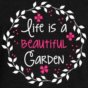 life is a beautiful garden Hoodies & Sweatshirts - Women's Boat Neck Long Sleeve Top