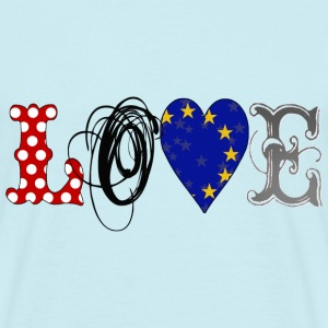 Love Europe Black - Männer T-Shirt