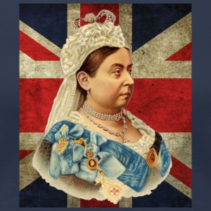Queen Victoria & Flag - Women's Premium T-Shirt