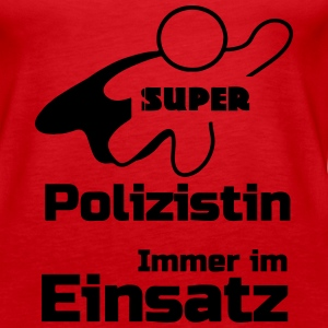 Super Polizistin Tops - Frauen Premium Tank Top