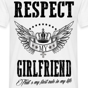 XXL LOGO - RESPECT MY GIRLFRIEND.png T-Shirts - Männer T-Shirt