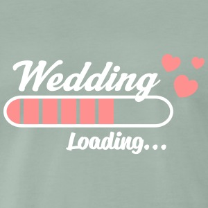 Wedding Loading_v2_hearts T-Shirts - Männer Premium T-Shirt