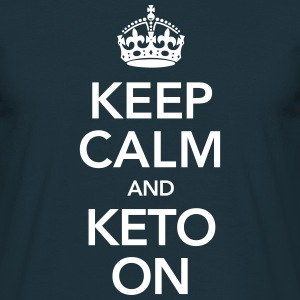Keep Calm And Keto On T-shirts - Herre-T-shirt