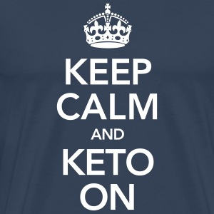 Keep Calm And Keto On T-shirts - Mannen Premium T-shirt