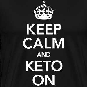 Keep Calm And Keto On T-shirts - Premium-T-shirt herr