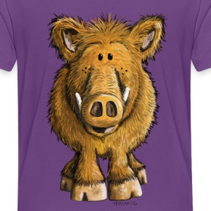 Wild boar Shirts - Teenage Premium T-Shirt
