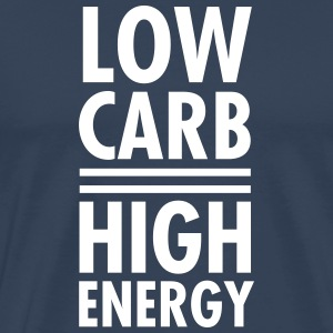 Low Carb - High Energy T-shirts - Mannen Premium T-shirt