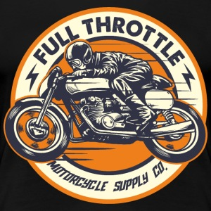 SSD Full Throttle retro racer - RAHMENLOS Biker Design clean orange T-Shirts - Frauen Premium T-Shirt