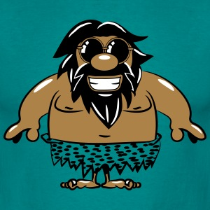 Caveman hulemand funny lystige solbriller T-shirts - Herre-T-shirt