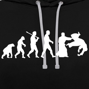 Evolution: Aïkido Hoodies & Sweatshirts - Contrast Colour Hoodie