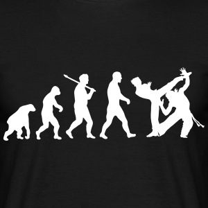 Evolution: Capoeira T-skjorter - T-skjorte for menn