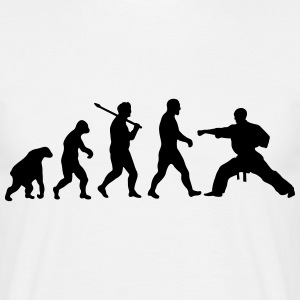 Evolution: Karate T-skjorter - T-skjorte for menn