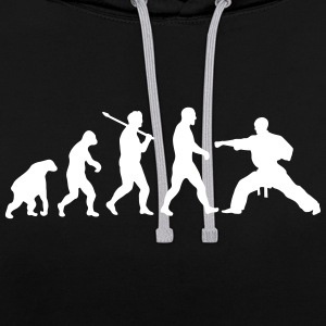 Evolution: Karate Hoodies & Sweatshirts - Contrast Colour Hoodie