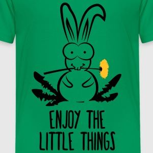 enjoy the little things bunny hare rabbit dandelio Shirts - Teenage Premium T-Shirt
