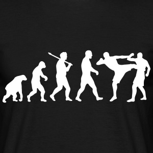 Evolution: Muay Thai/Kick Boxing T-Shirts - Männer T-Shirt
