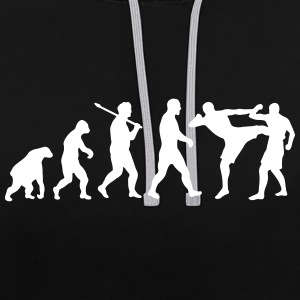 Evolution: Muay Thai/Kick Boxing Pullover & Hoodies - Kontrast-Hoodie